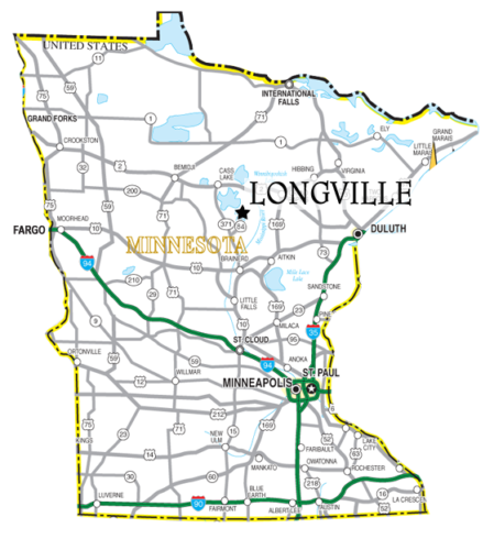 Longville MN Maps - Lake Maps - Trail Maps - Area Maps - Winter
