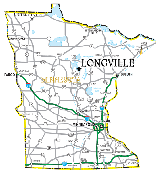 Longville mn location maps community information longville state sciox Image collections